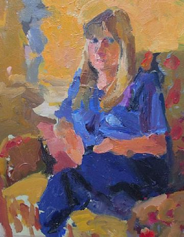 John Harvey Oil Painting Portrait Of A Seated Female